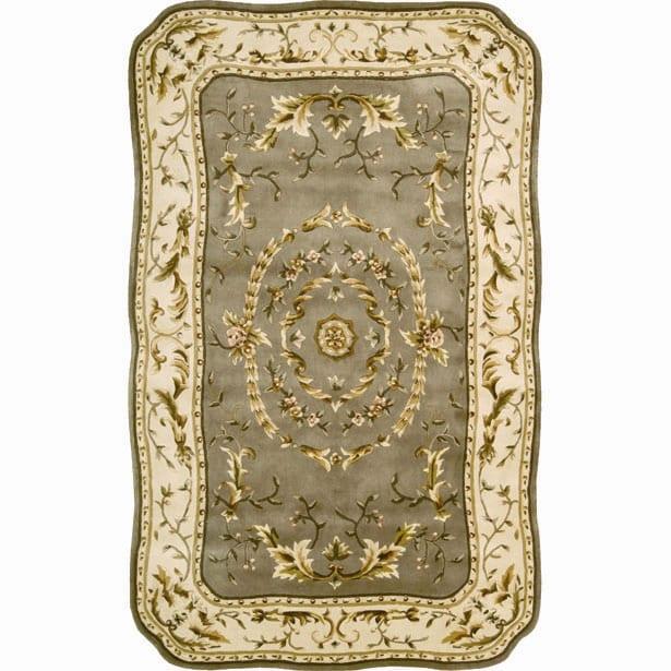 Nourison Hand-tufted Serenata Sage Wool Rug (5'3 x 8'3)