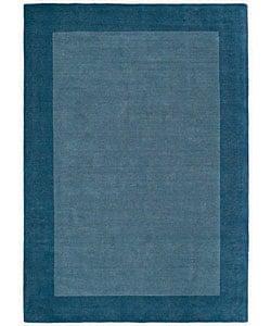 Hand-tufted Royal Blue Wool Rug (8' x 10'6)
