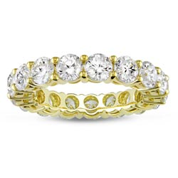 Miadora 18k Gold 4ct TDW Diamond Full Eternity Band (H-I, I1-I2)