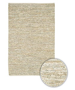 Hand-woven Natural Leather Rug (8' x 11')
