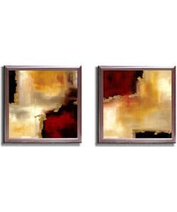 Maitland Crimson Accent 2-piece Framed Canvas Art