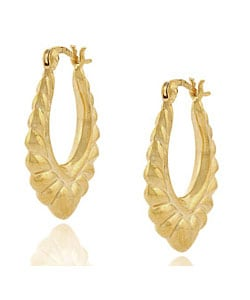 Mondevio 18k Gold over Sterling Silver Heart Earrings