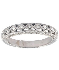 14k White Gold 1/2ct TDW Diamond Antique Ring (I-J, I1-I2)