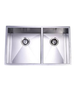 Towne Square Stainless Steel Undermount Double Kitchen Sink