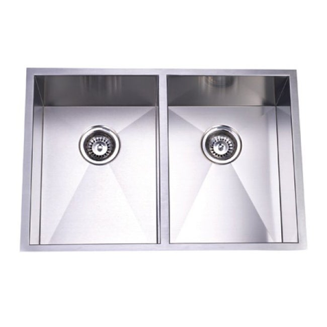 ... Handmade Undermount 50/50 Double Bowl Stainless Steel Kitchen Sink