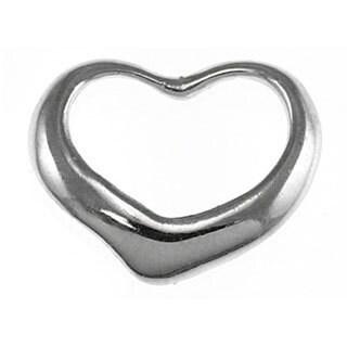 14k White Gold Floating Heart Charm