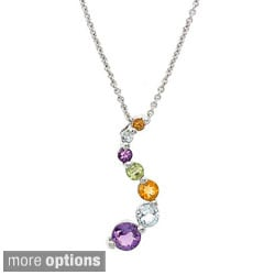 Glitzy Rocks 3/4ct TGW Gemstone Journey Necklace