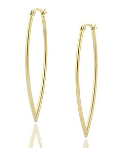 Mondevio 18k Gold over Sterling Silver Leaf Design Earrings