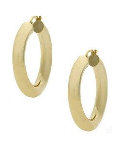 Mondevio 18k Gold over Sterling Silver Shiny Hoop Earrings