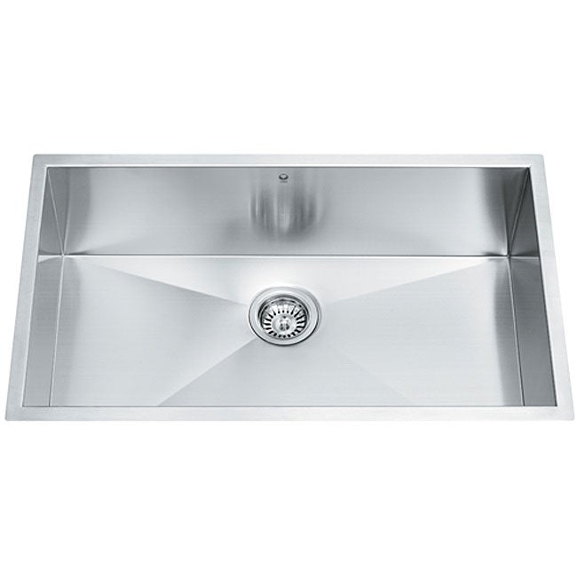 32 inch Undermount Stainless Steel 16 Gauge Single Bowl