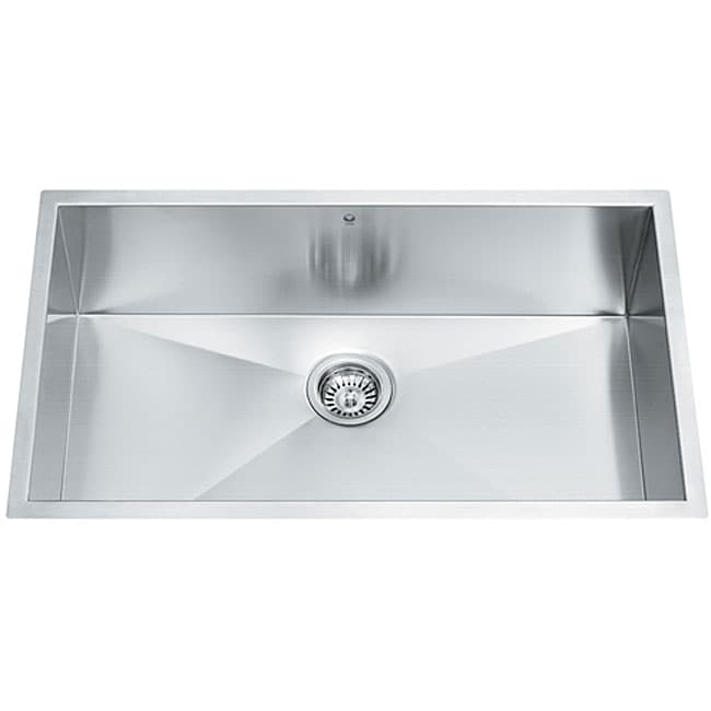 Undermount Stainless Steel Sink Single Bowl : 32-inch Undermount Stainless Steel 16 Gauge Single Bowl Kitchen Sink ...