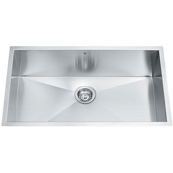 32-inch Undermount Stainless Steel 16 Gauge Single Bowl Kitchen Sink
