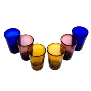 Rainbow Gems Set of 6 Tumblers (Mexico)