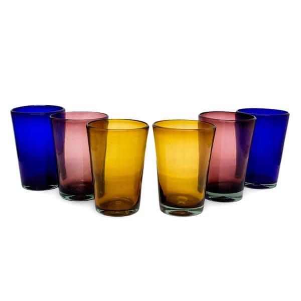 Rainbow Gems Set of 6 Tumblers (Mexico)