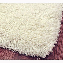 Plush Super Dense Hand-woven Honey White Premium Shag Rug (7'6 x 9'6)