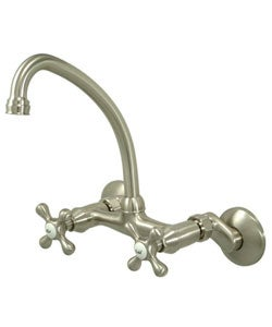 Satin Nickel Wallmount Kitchen Faucet