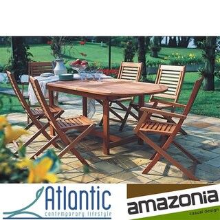 Amazonia Extendable 7 Piece Patio Dining Set Overstock