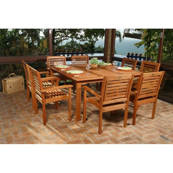 Amazonia Eucalyptus 9 Piece Patio Dining Set Overstock Shopping Big Disco
