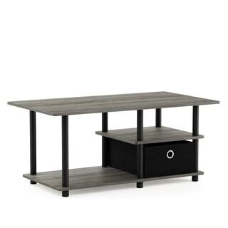 Porch & Den Longfellow Wood Storage Bin TV Stand