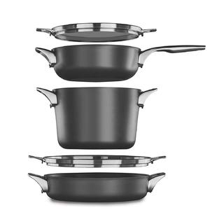 Calphalon Premier Space Saving Hard Anodized Nonstick Supper Club Set