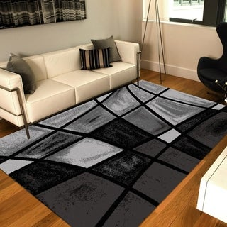 Chalk Fade Black/Gray Area Rug 8 ft. by 10 ft. - 8' x 10'