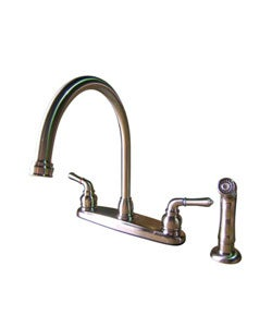 Arched Satin Nickel Kitchen Faucet