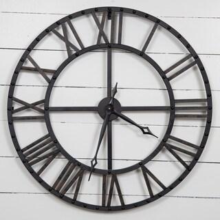 Gallery Solutions Oversized Black/Bronze Metal Wall Clock