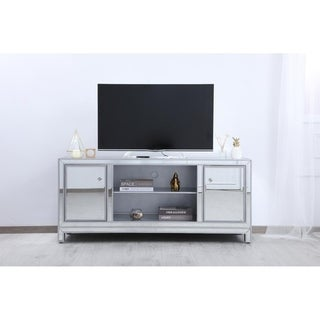 Indigo Home Antique Silver Mirrored TV Stand