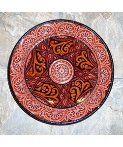 10-inch Engraved Ceramic Plate (Morocco)