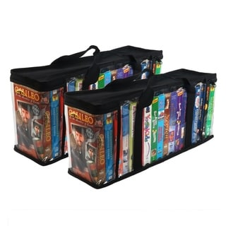 Evelots Set of 2 VHS Storage Cases