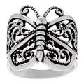 Tressa Sterling Silver Butterfly Wrap Ring