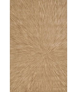 "Nourison Traditional Hand-Tufted Caspian Gold Wool Rug (3'6"" x 5'6"")"