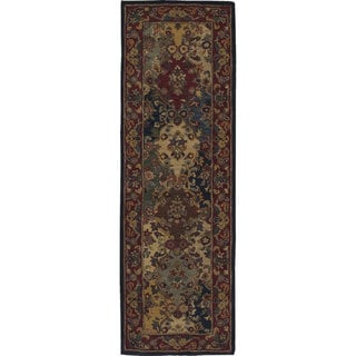 Nourison Hand-tufted Multi-colored Wool Runner (2'3 x 7'6)