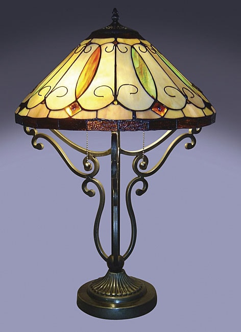 arroyo tiffany style table lamp 10774504 shopping. Black Bedroom Furniture Sets. Home Design Ideas