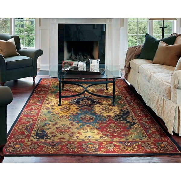 Nourison Hand-tufted Multi-colored Wool Rug (5' x 8')