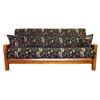 Premium Tapestry Full-Sized Futon Cover Set with Spin City Pattern