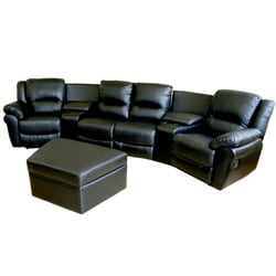 Beldon 7-piece Leather Recliner Home Theater Set