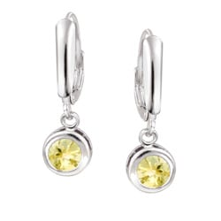 Glitzy Rocks Sterling Silver Citrine Leverback Earrings