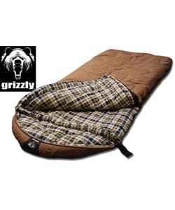 Grizzly Tan Canvas 25-degree Sleeping Bag with Hyperloft Insulation