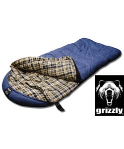Grizzly Canvas Blue -25-degree Flannel-lined Hyperloft Sleeping Bag