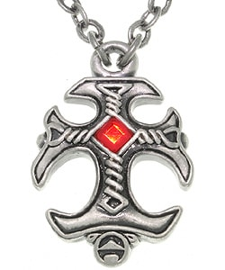 Carolina Glamour Collection Gothic Cross Pewter Unisex Necklace