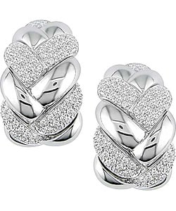 Miadora 18k White Gold 1 3/8ct TDW Diamond Earrings (F-G, VS)
