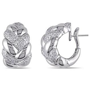 SHIRA 18k White Gold 1 3/8ct TDW Diamond Earrings (F-G, VS)
