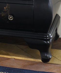 Hand-painted Satin Black Accent Chest