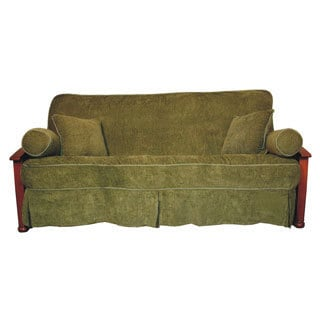 Jacquard Chenille Full-sized Skirted Futon Cover Set