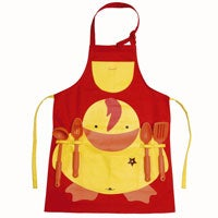 Sheriff Duck Child's Apron with Utensils