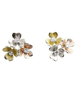 Kate Bissett Cubic Zirconia Flower Bouquet Earrings