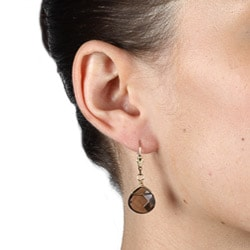 Charming Life 14k Goldfill Smokey Quartz Briolette Earrings