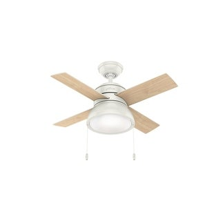 """Hunter 36"""" Loki Ceiling Fan with LED Light Kit and Pull Chain"""