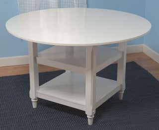 Cottage White Round Dining Table
